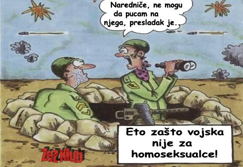 Eto, zašto vojska nije za homoseksualce
