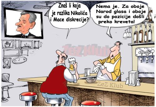 Koja je razlika između Nikolića i Mace diskrecije - crtane slike
