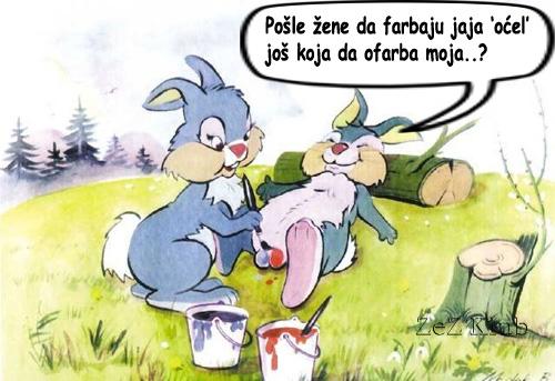 Pošle žene da farbaju jaja - crtane slike