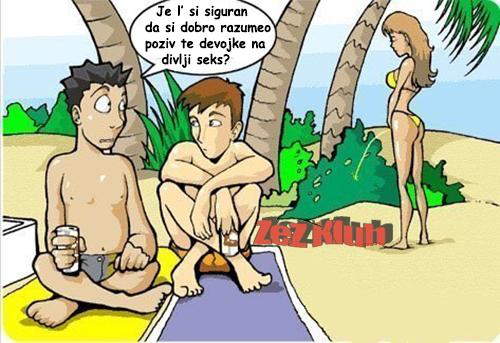 Poziv na divlji seks - crtane slike