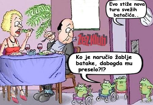 Stiže nova tura žabljih batačića - crtane slike