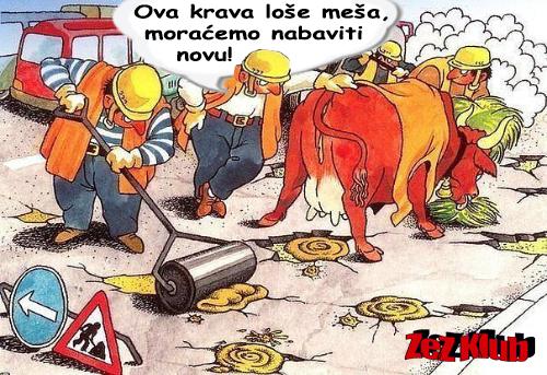 Popravka puteva u Srbiji pred izbore @ srtane slike - humor u stripu