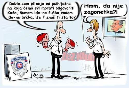 Dobio sam pitanja od psihijatra za sve policajce @ crtane slike - humor u stripu