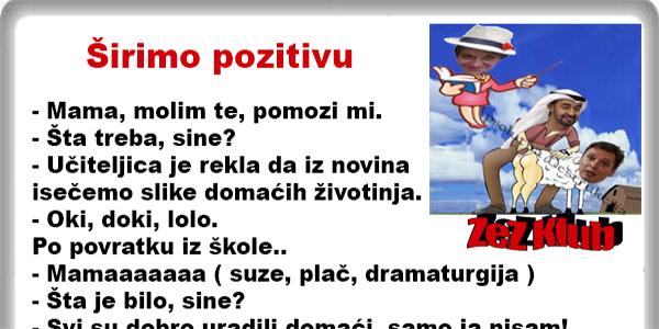 Širimo pozitivu @ Vicevi Aforizmi - Pavica Veljović