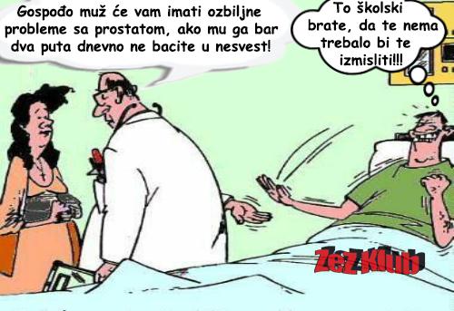 Gospođo muž će vam imati ozbiljne probleme @ crtane slike - humor u stripu