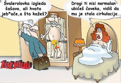 Švalerolovka izgleda šašavo ali radi posao @ crtane slike - humor u stripu