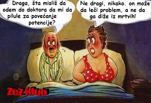 Draga, šta misliš da odem do doktora po pilule @ crtane slike - humor u stripu