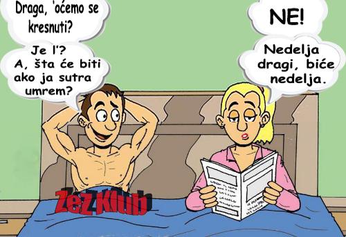 Draga, oćemo se kresnuti @ crtane slike - humor u stripu