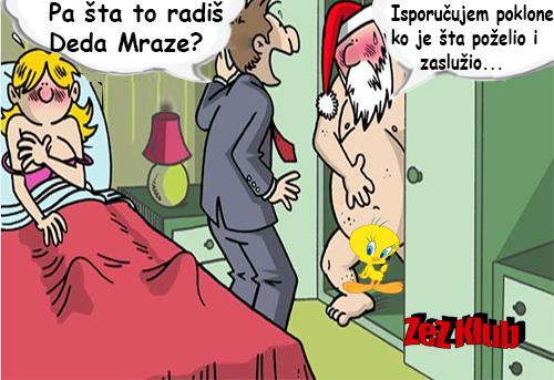 Pa šta to radiš Deda Mraze @ crtane slike - humor u stripu
