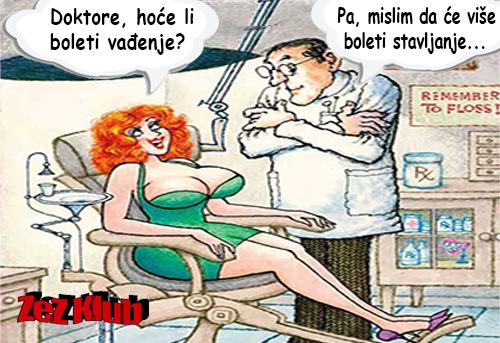 Doktore, hoće li boleti vađenje @ crtane slike - humor u stripu