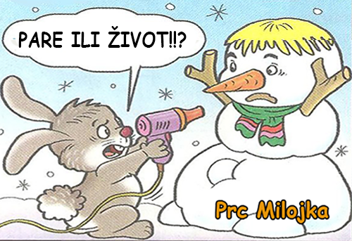 Kriza se smeška i kod Belić Sneška @ crtane slike - humor u stripu