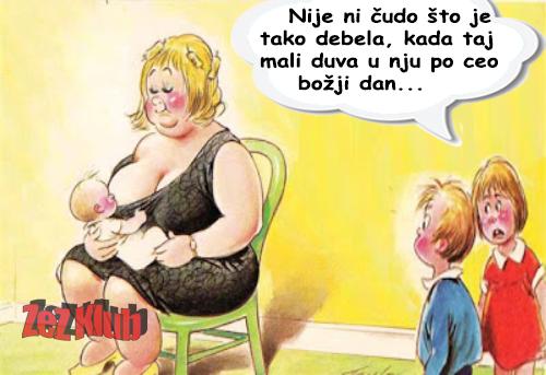 Nije ni čudo što je tako debela @ crtane slike - humor u stripu