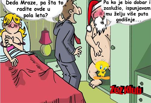 Deda Mraze, pa šta radite to ovde u pola leta @ crtane slike - humor u stripu