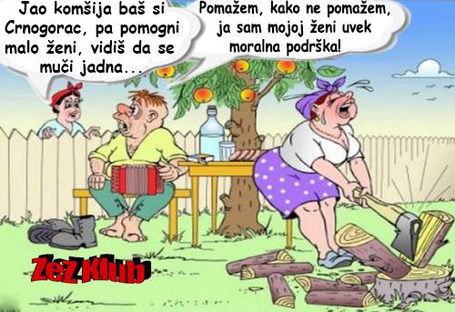 Jao komšija baš si Crnogorac @ crtane slike - humor u stripu