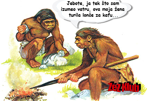 Jebote, ja tek što sam izumeo vatru @ crtane slike - humor u stripu