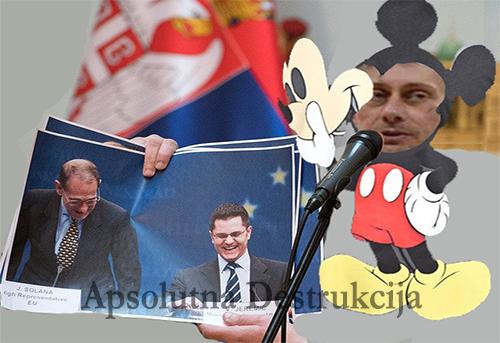 Ja sam mali miš, strašan miš, strašim protestante - Srbija Danas, Martinović