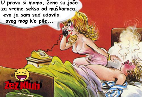 U pravu si mama, žene su jače za vreme seksa @ crtane slike - humor u stripu