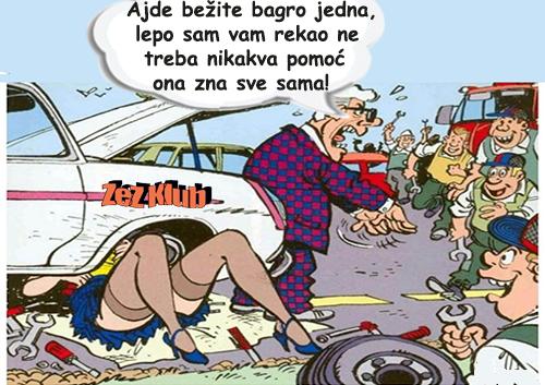 Ajde bežite bagro jedna @ crtane slike - humor u stripu