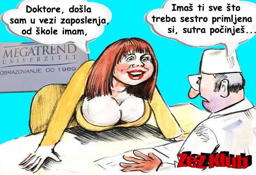 Doktore došla sam u vezi zaposlenja @ crtane slike - humor u stripu