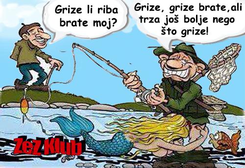 Grize li riba brate moj @ crtane slike - humor u stripu