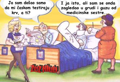 Crtane slike, humor u stripu @ ja sam došao da mi časkom testiraju krv