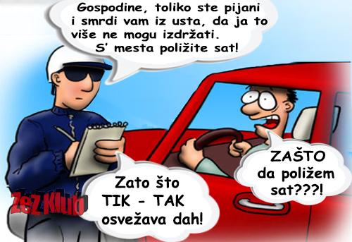 Crtane slike, humor u stripu @ tik - tak, osvežava dah