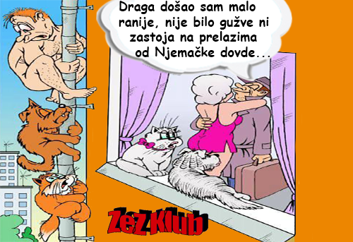 Crtane slike, humor u stripu @ Draga došao sam malo ranije, nije
