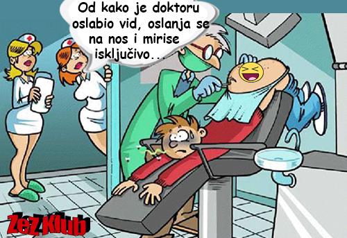 Od kako je doktoru oslabio vid @ Crtane slike, humor u stripu